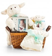 Baby Gift Baskets: Little Lamb Baby Gift Set
