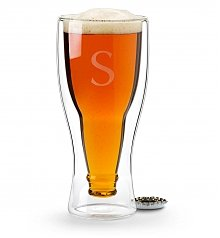 Personalized Keepsake Gifts: Personalized Hopside Down® Beer Glass