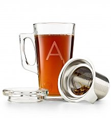 Personalized Keepsake Gifts: Personalized Tea Glass with Infuser