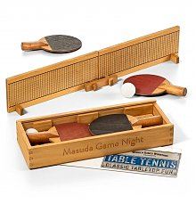 Personalized Keepsake Gifts: Engraved Wood Table Tennis Set