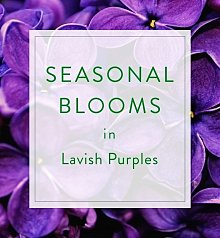 Flower Bouquets: Designer's Choice Seasonal Bouquet: Purple